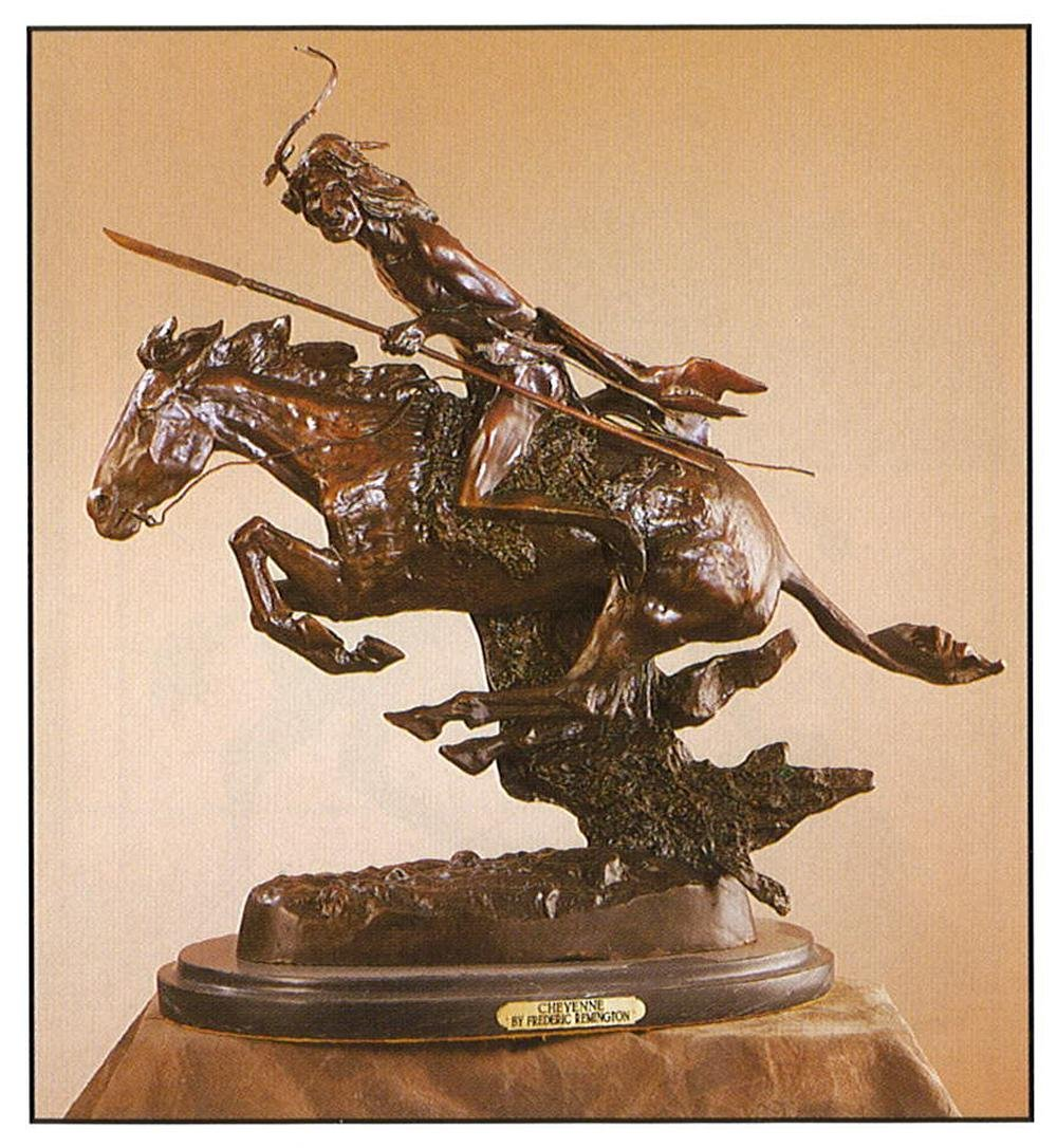 *Very Rare Large Cheyenne Bronze by Frederic Remington