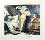 960 LOUIS ICART Attic Room Print Open Edition