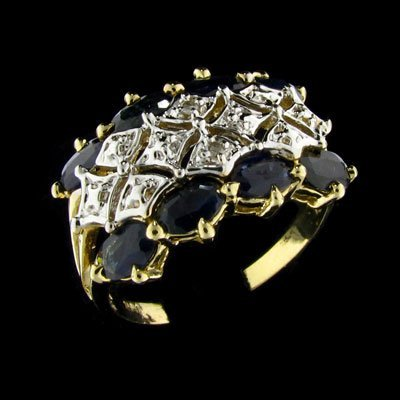2827: APP: 2.1k 14 kt. Gold, 1.60CT Sapphire and Diamon