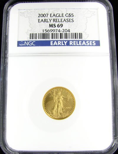 2831: 2007 $5 US Eagle Gold Coin - Investment Potential