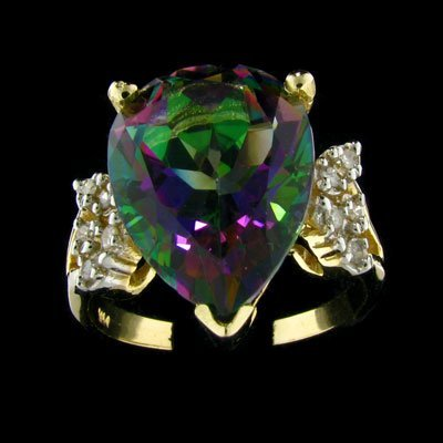 2835: APP: 3.5k 14 kt. Gold, 10.43CT Mystic Topaz and 0