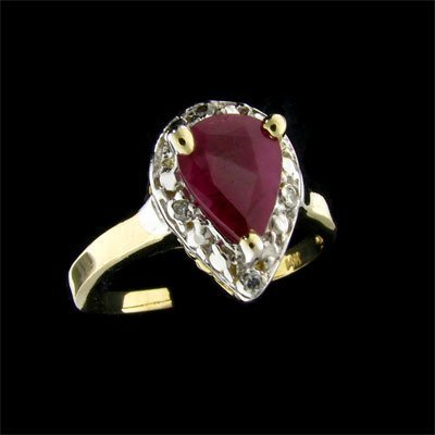 3: APP: $ 2.2k 14 kt. Gold, 1.16CT Ruby and Diamond Rin