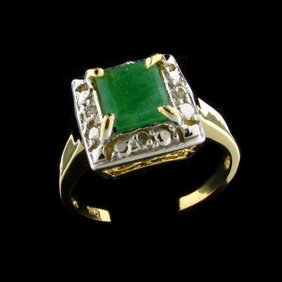 27: APP: $ 1.4k 14 kt. Gold, 0.67CT Emerald and 0.04CT