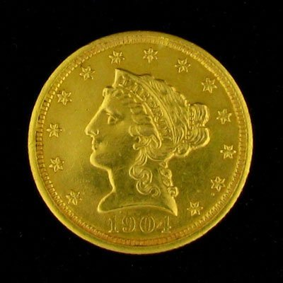 207: 1904 $2.5 US Liberty Head Type Gold Coin - Investm