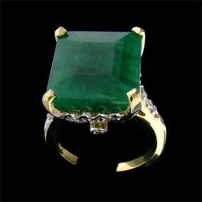 235: APP: 9.5k 14 kt. Gold, 8.50CT Emerald and Diamond