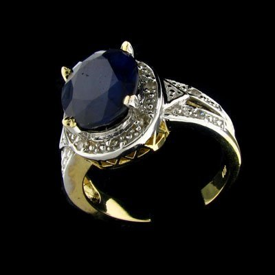 243: APP: 7.3k 14 kt. Gold, 5.20CT Sapphire and Diamond