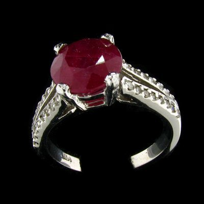 2002: APP: $ 9.8k 14 kt. Whtie Gold, 2.95CT Ruby and Di