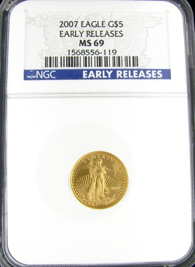 2014: 2007 $5 American Eagle Gold Coin - Investment Pot
