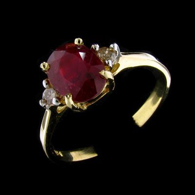 2030: APP: $ 6.1k 14 kt. Gold, 1.34CT Ruby and Diamond
