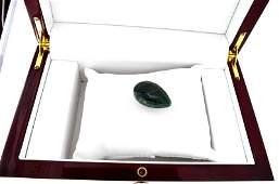 APP 11k 6350CT Pear Cut Green Beryl Emerald Gemstone