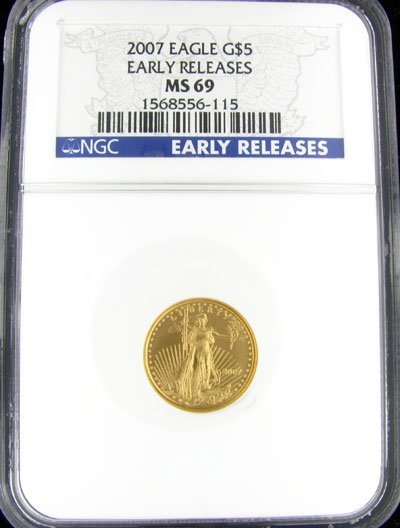 2215: 2007 $5 American Eagle Gold Coin - Potential Inve
