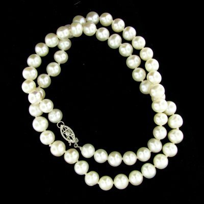 """2522: 17"""" Pearl Necklace, Beautiful!!"""
