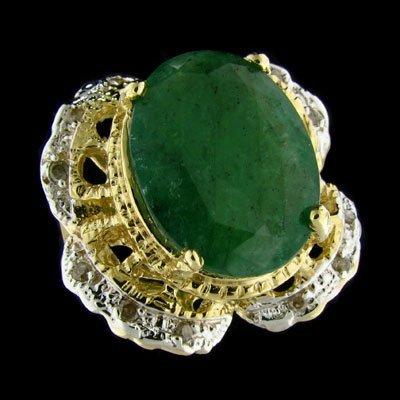 2540: APP: 24.7k 14 kt. Gold, 11.50CT Emerald and Diamo