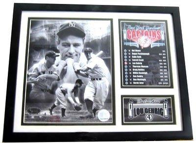 2544: Framed Sports Memorabilia - Lou Gehrig