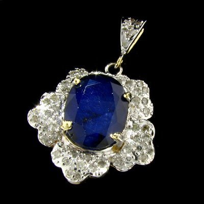 2554: APP: 16.5k 14 kt. Gold, 10.86CT Sapphire and Diam