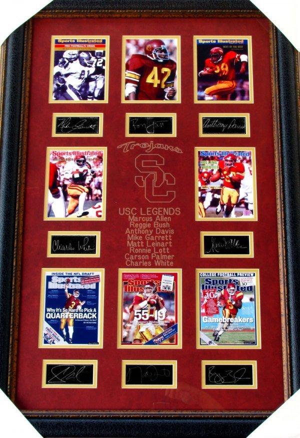 2578: Rare USC Legends Collage Facsimile Autographed