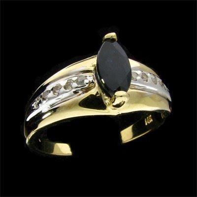27: APP: $1.5k 14 kt. Gold, 0.71CT Sapphire and Diamond