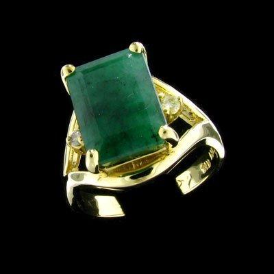 43: APP: $4.8k 14 kt. Gold, 5.51CT Emerald and Diamond
