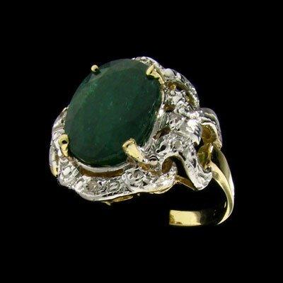 215: APP: $19.1k 14 kt. Gold, 5.01CT Emerald and Diamon
