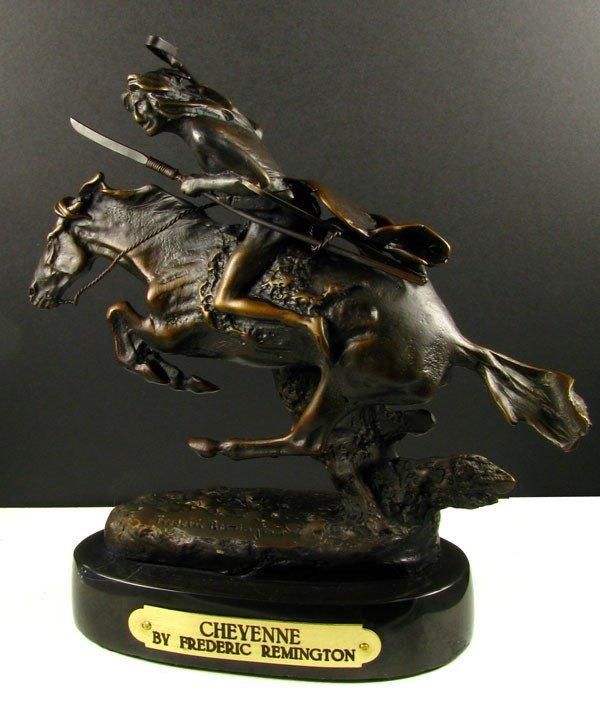 247: Frederic Remington Bronze - Cheyenne-Repro
