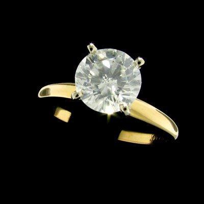 387: APP: $10.8k 14 kt. Gold, 1.42CT Diamond Ring