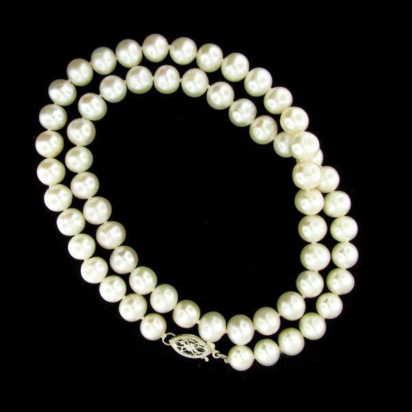 "502: 17"" Pearl Necklace, Beautiful Item!"