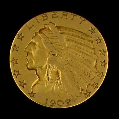 504: 1909 $5 US Indian Gold Coin, Investment Potential