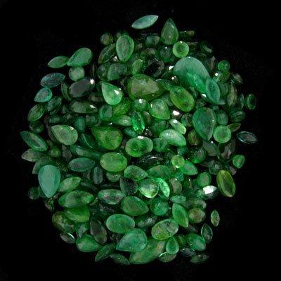 520: APP: 10.4k 51.93CT Mixed Cuts Emerald Parcel, Prec
