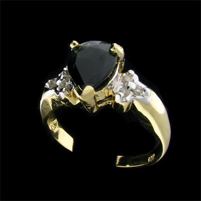 536: APP: 1.4k 14 kt. Y/W Gold, 1.84CT Sapphire and Dia