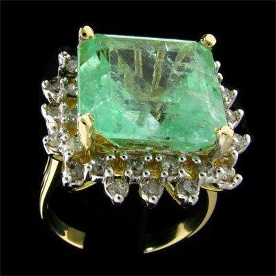 510: APP: $10.9k 14 kt. Y/W Gold, 9.40CT Green Beryl an