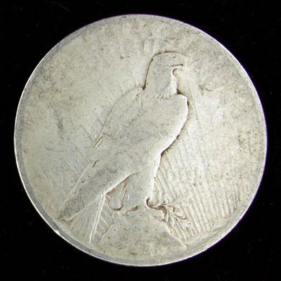 512: 1923-D US Peace Silver Dollar Coin, Investment Pot
