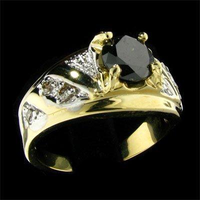 516: APP: $4.2k 14 kt. Y/W Gold, 1.28CT Rare Black Diam