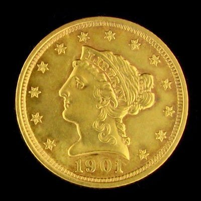 2739: 1901 $2.5 US Liberty Head Type Gold Coin, Investm