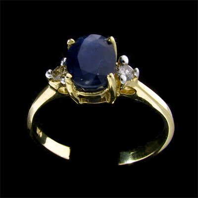 2763: APP: $1.2k 14 kt. Gold, 1.73CT Sapphire and Diamo