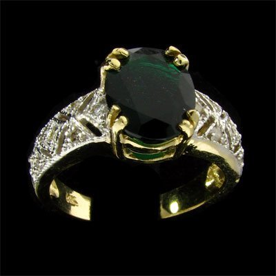 447: APP: $6.5k 14 kt. Gold, 2.07CT Emerald and Diamond