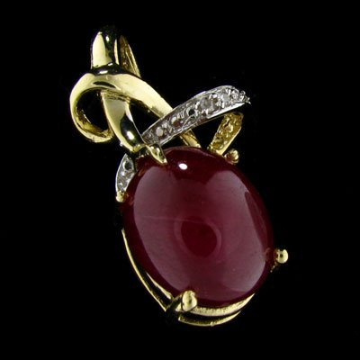 603: APP: $22.2k 14 kt. Gold, 17.16CT Ruby and Diamond