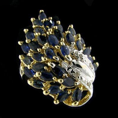 615: APP: $6.9k 14 kt. Gold, 4.95CT Sapphire and Diamon