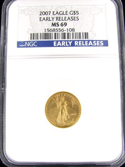 625: 2007 $5 American Eagle Gold Coin, Potential Invest