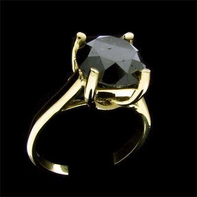 7: RRV APP: $9.3k 14 kt. Gold, 4.62CT Rare Black Diamon