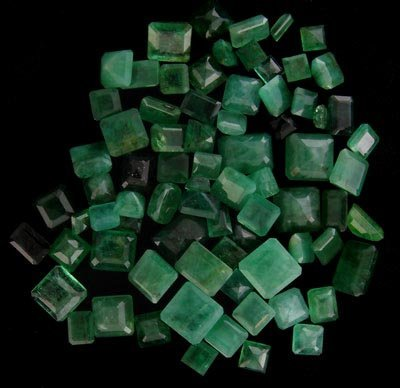 43: RRV APP: $4k 50.63CT Square Emerald Parcel