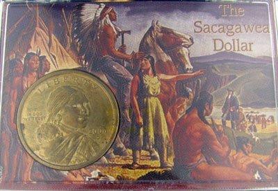 47: 2000 Sacagawea Dollar in Snaplock Display, Investme