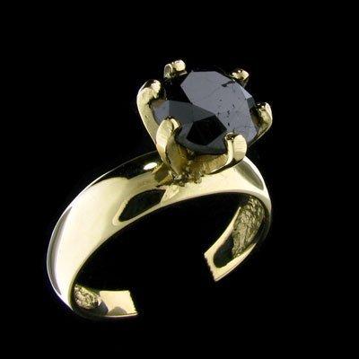 49: RRV APP: $4k 14 kt. Gold, 2.65CT Rare Black Diamond