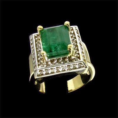 1253: RRV APP: $17.3k 14 kt. Gold, 4.20CT Emerald