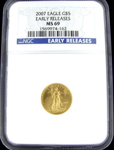 1265: 2007 $5 American Eagle Gold Coin, Potential Inves