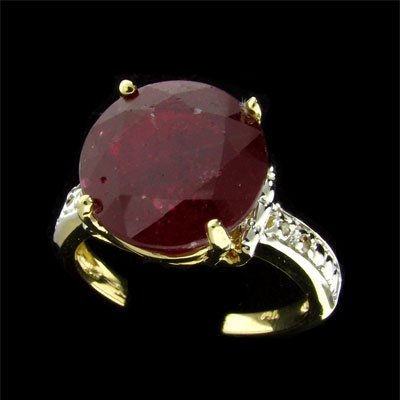 1269: RRV APP: $23.9k 14 kt. Gold, 7.42CT Ruby &Dia