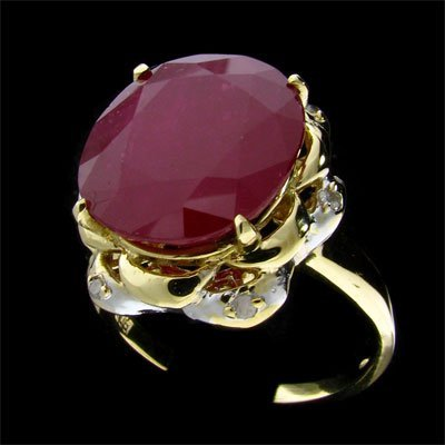 1275: RRV APP: $34.2k 14 kt. Gold, 10.63CT Ruby & Diam