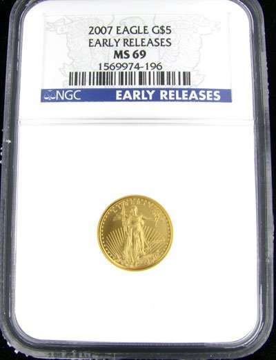 3002: 2007 $5 American Eagle Gold Coin