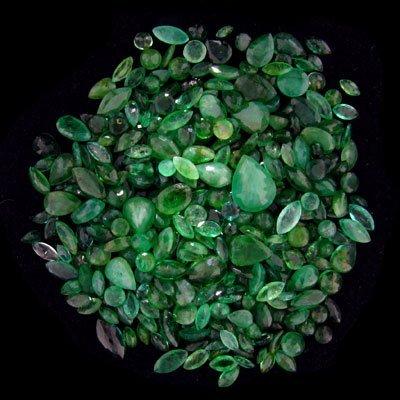 3016: APP: $10.4k 51.83CT Mixed Cuts Emerald Parcel, Pr