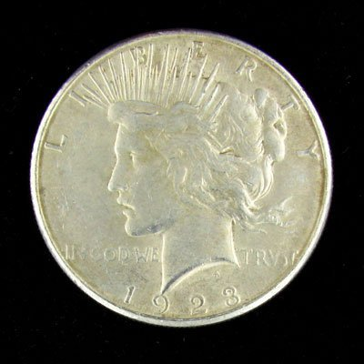 3024: 1923 Peace Type Silver Dollar Coin