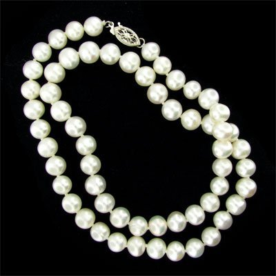 """3040: 17"""" Pearl Necklace, Beautiful!"""